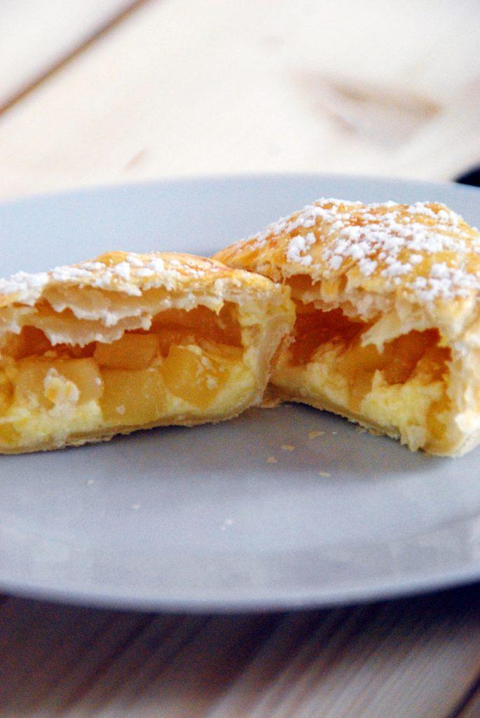 Apfelmuffins mit Puddingcreme