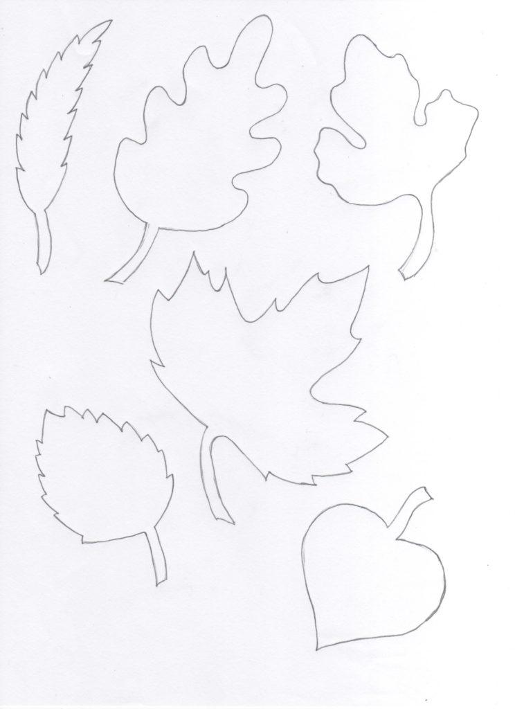 Blätter Vorlage