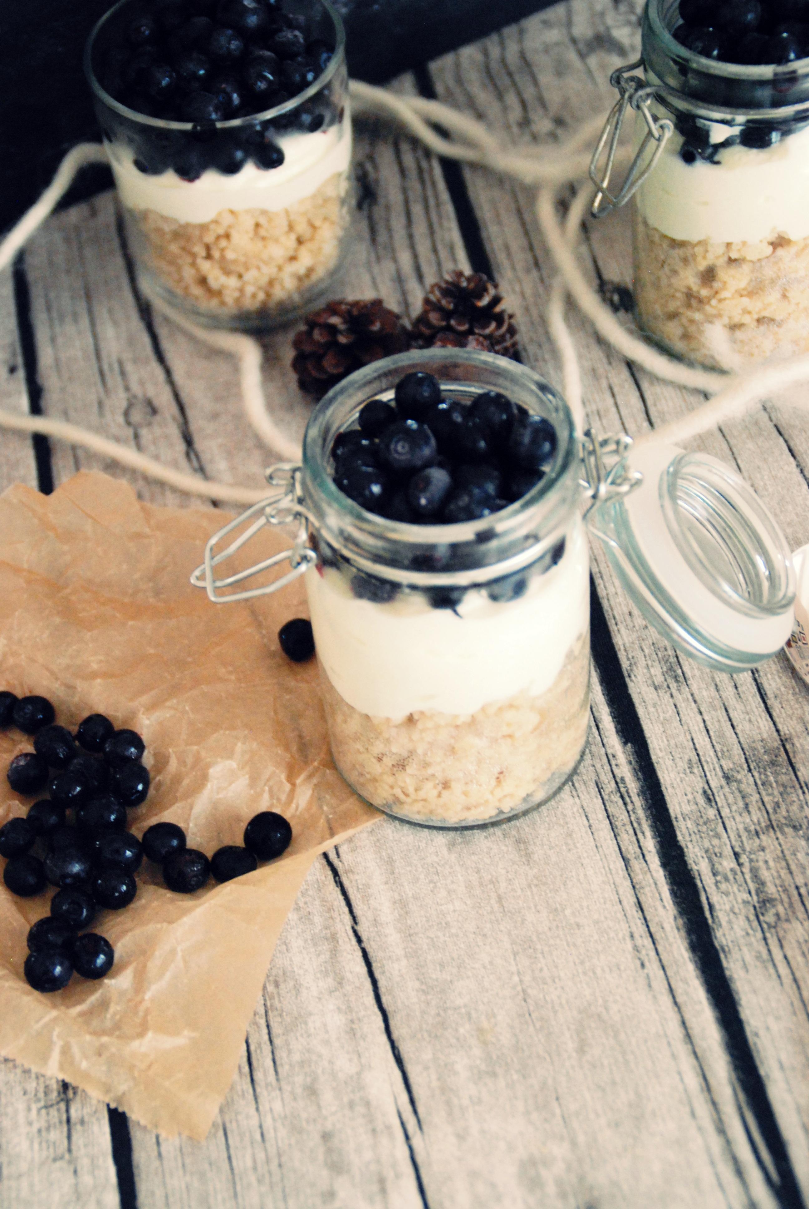 Couscous Heidelbeer Dessert