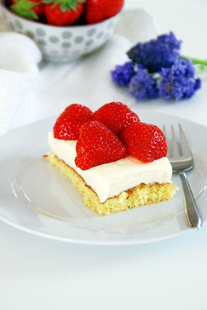 Erdbeer Vanille Schnitte