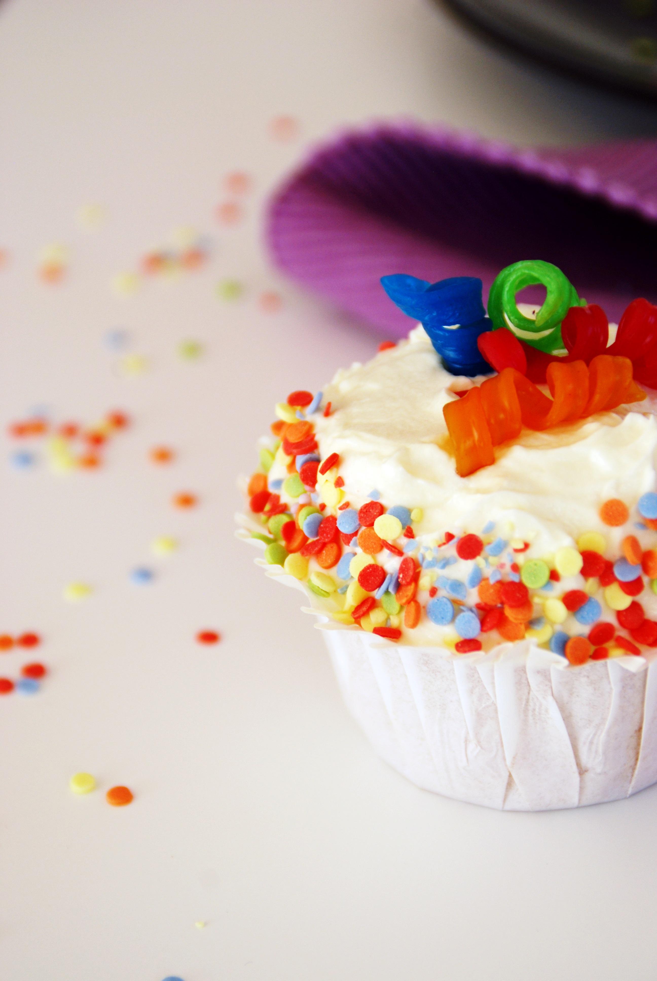Kunterbunte Fasching Cupcakes