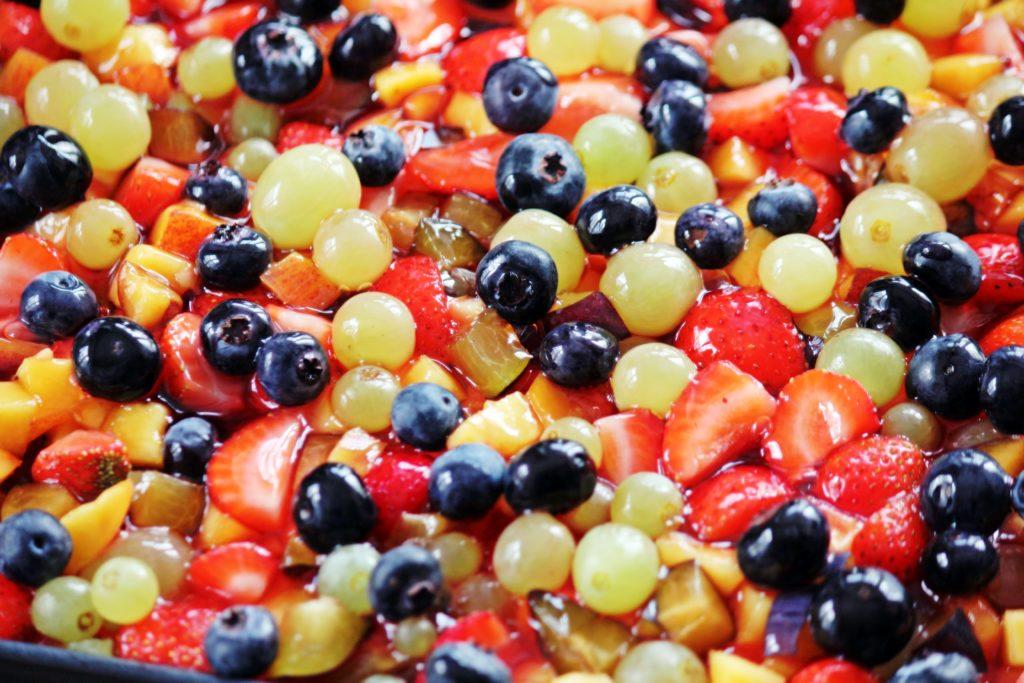Früchte Topfen Kuchen