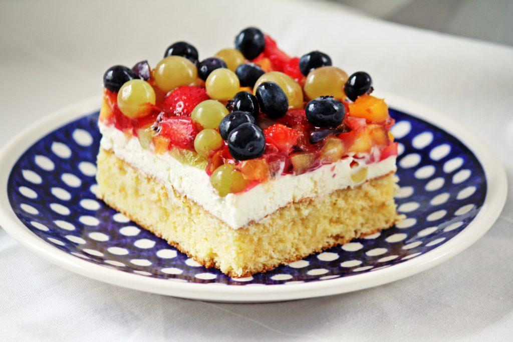 Früchte-Topfen-Kuchen