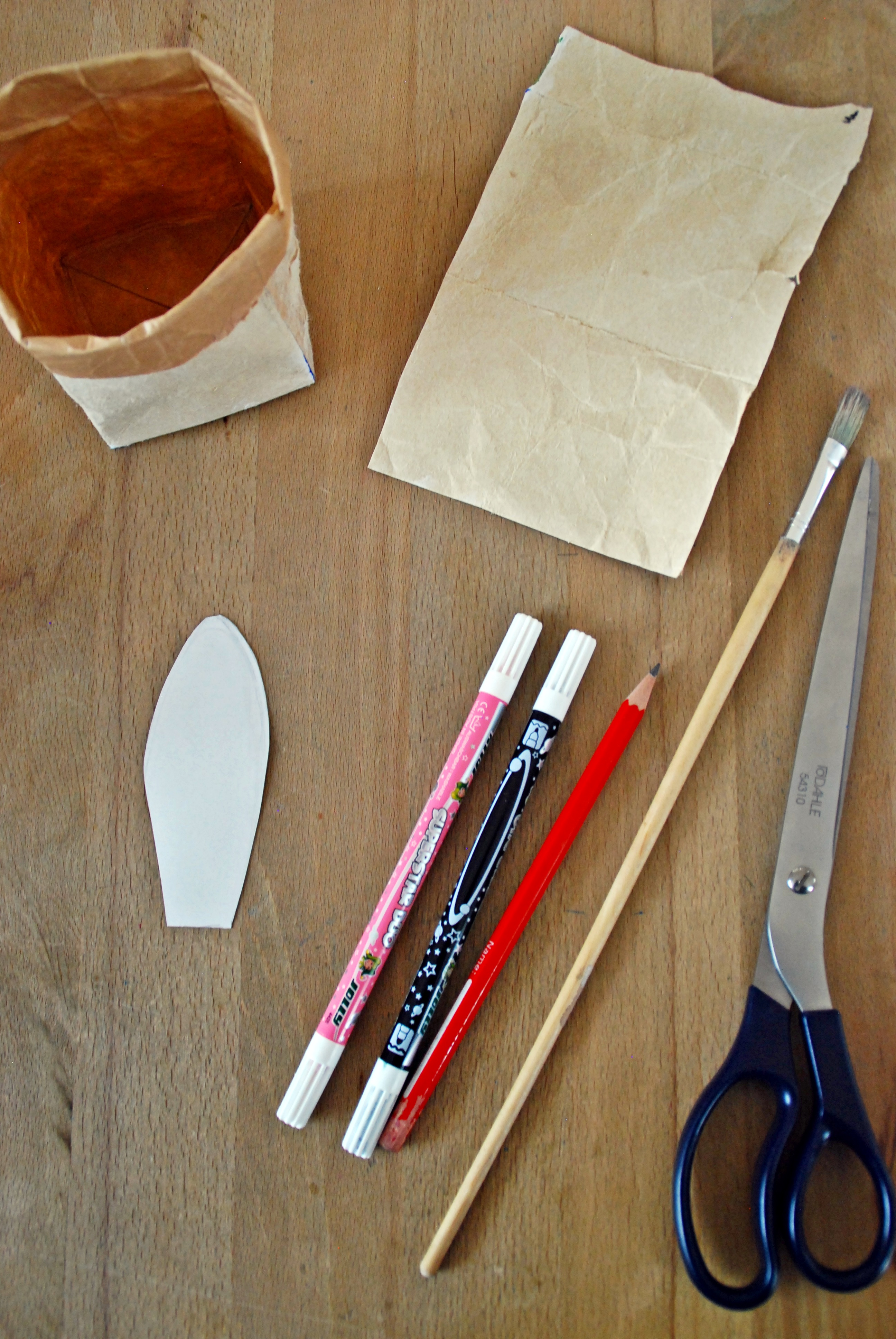 Osterkörbchen Material