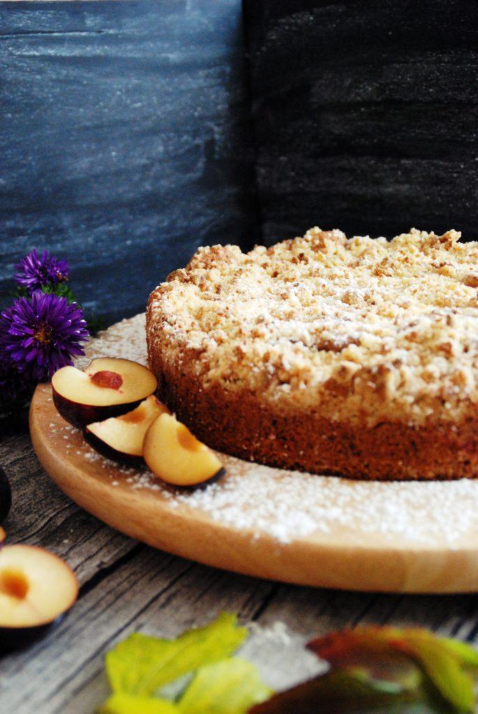 Pflaumenkuchen mit Marzipan-Zimt Streusel