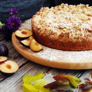 Pflaumenkuchen mit Marzipan-Zimt-Streusel