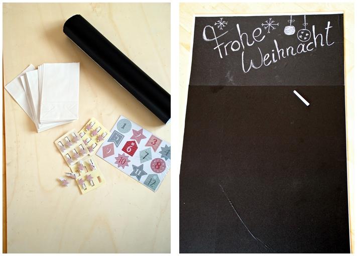chalkboard adventskalender