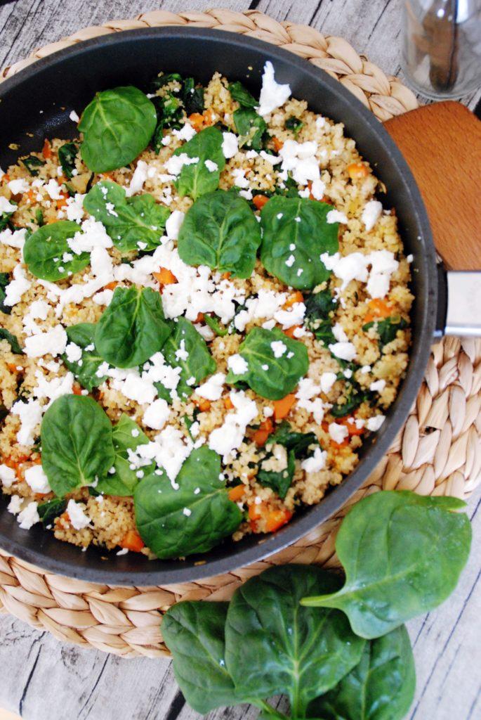 spinat couscous pfanne