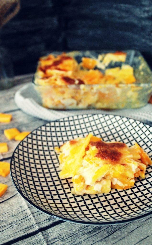 kürbis polenta lasagne