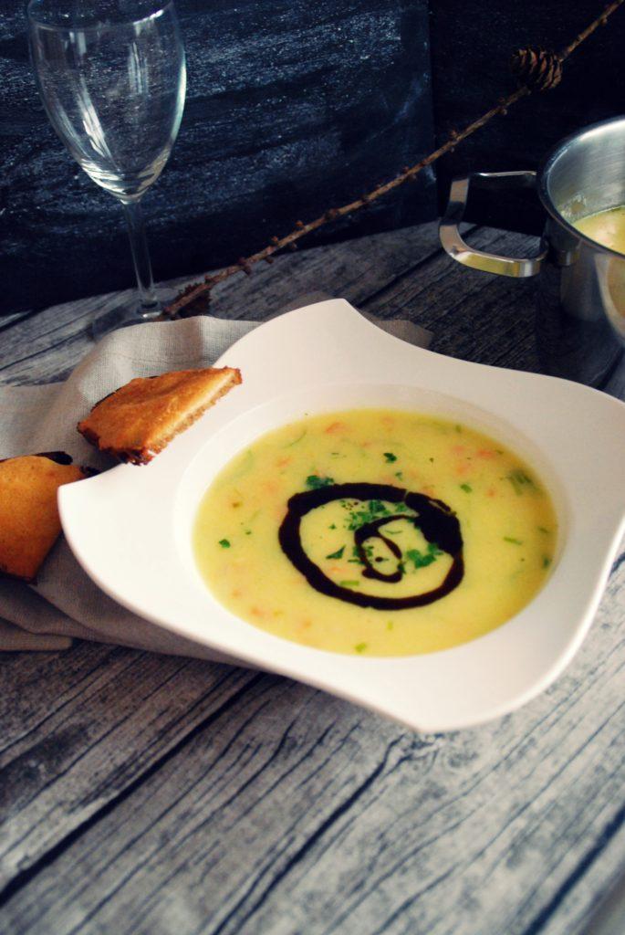 lauch polenta suppe