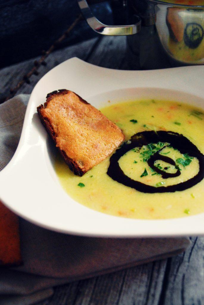 Polenta Lauch Suppe