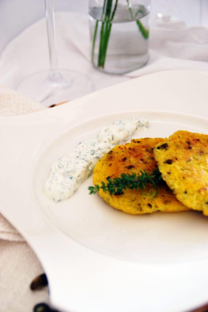 Polenta-Zucchini Laibchen