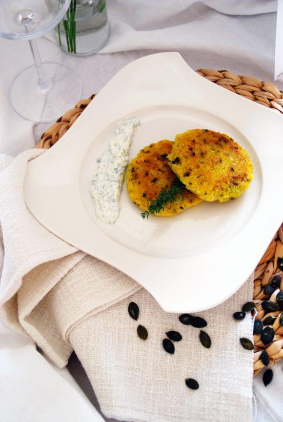 Polenta-Zucchini Laibchen (vegetarisch)